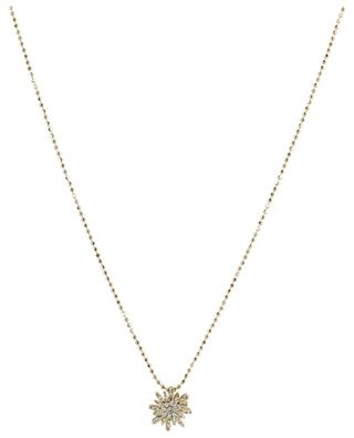 Soleil gold choker with small diamond clad pendant GBYG
