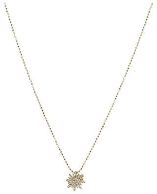Collier ras du cou avec petit pendentif serti de diamants Soleil GBYG