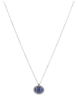 Weissgoldhalskette mit Saphir und Diamanten Amulette GBYG