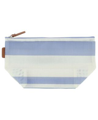 Dolce Classic striped mesh cosmetic bag SUNNYLIFE