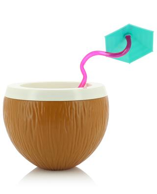 Drinkware with curly straw Coconut SUNNYLIFE