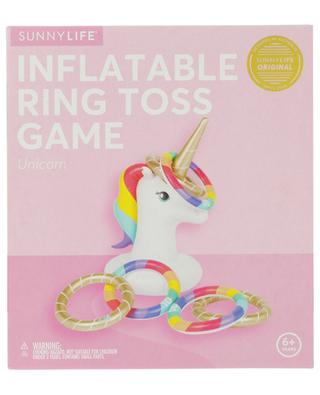 Inflatable unicorn ring toss game SUNNYLIFE