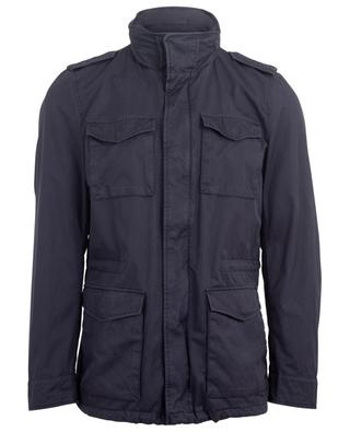 Cotton blend jacket with removable collar HERNO