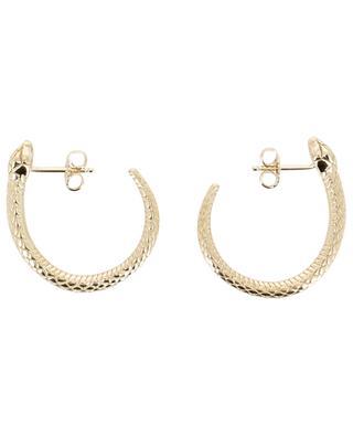 Serpent yellow gold plated hoop earrings AVINAS