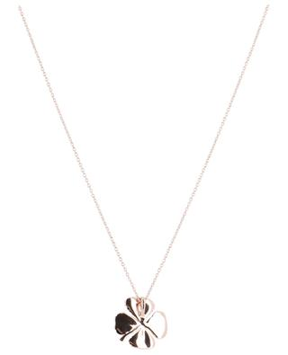 Trèfle pink gold plated necklace AVINAS