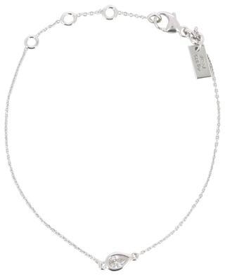 Poire silver bracelet with zirconia AVINAS