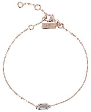 Taille Baguette pink golden silver bracelet with zircon AVINAS