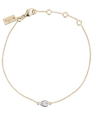 Taille Marquise yellow gold plated bracelet with zircon AVINAS