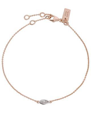Rosévergoldetes Armband mit Zirkon Taille Marquise AVINAS