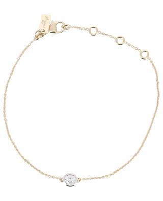 Bracelet plaqué or jaune avec zircon Taille Ronde AVINAS