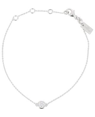 Armband aus rhodiniertem Silber mit Zirkonia Taille Ronde AVINAS