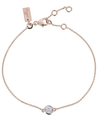 Taille Ronde pink golden silver bracelet with zircon AVINAS