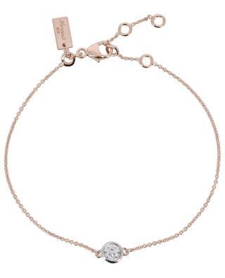 Bracelet en argent doré rose avec zircon Taille Ronde AVINAS