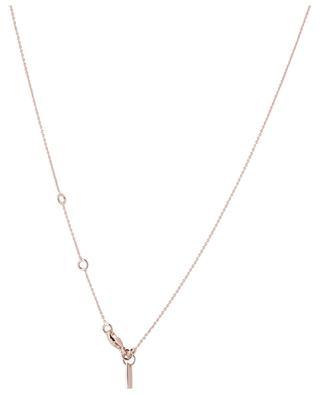 Collier en argent plaqué or rose avec zircon Taille Ronde AVINAS