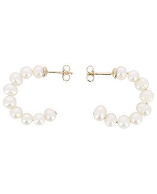Small pearl hoop earrings AVINAS