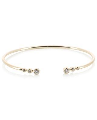 Rock yellow gold plated bangle with zirconia AVINAS