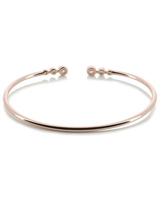 Rock zirconia embellished pink gold bangle AVINAS
