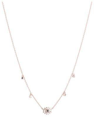 Eye pink gold plated necklace with zirconia AVINAS