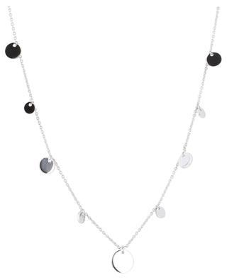Halskette aus rhodiniertem Silber Confetti AVINAS