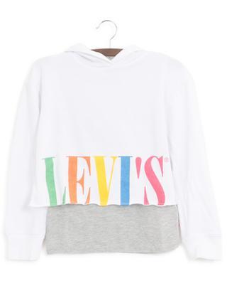 Verkürztes Kapuzensweatshirt im Lagenlook LEVI'S KIDS