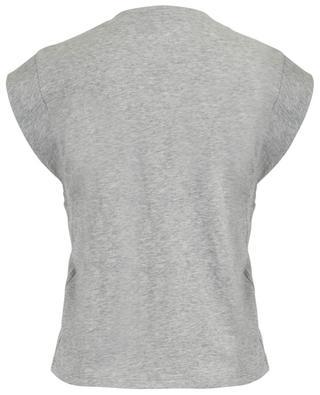 Ärmelloses meliertes T-Shirt aus Baumwolle Le High Rise V FRAME