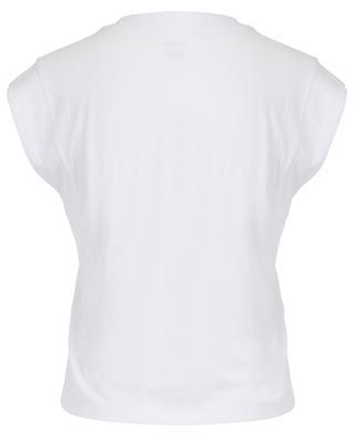 Le High Rise V sleeveless cotton T-shirt FRAME