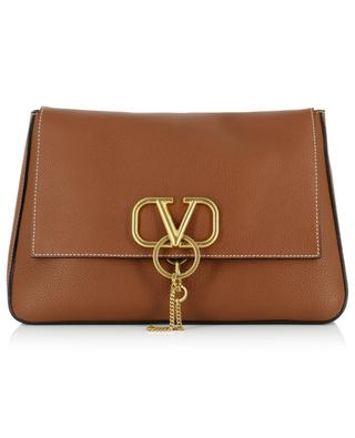 VRING Large supple grained leather cross body bag VALENTINO