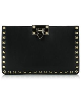 Rockstud studded leather clutch VALENTINO