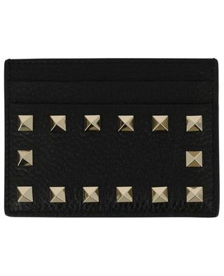 Kartenetui aus genarbtem Leder Rockstud VALENTINO