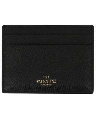Rockstud grained leather card-holder VALENTINO