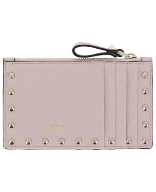 Rockstud grained leather card-holder VALENTINO