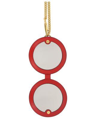 Taschenanhänger mit Spiegel aus Leder VALENTINO