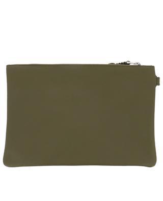 Slim Medium Sienne leather flat clutch CALLISTA