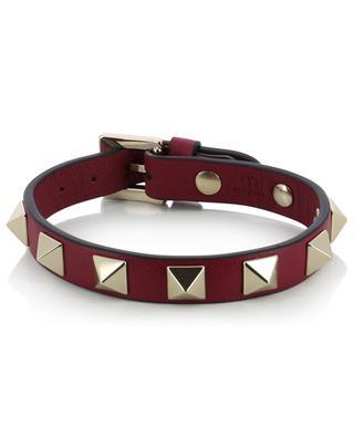 Bracelet fin en cuir de veau Rockstud VALENTINO