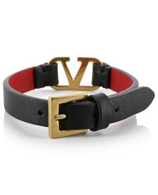 Bracelet en cuir texturé VLOGO VALENTINO