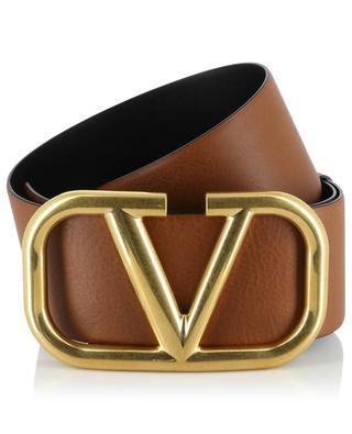 Large ceinture en cuir texturé VLOGO VALENTINO