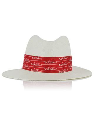 Straw hat with silk ribbon VALENTINO