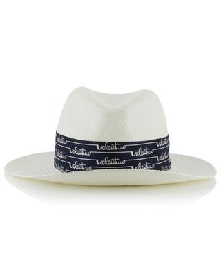 Strohhut mit Hutband aus Seide VALENTINO