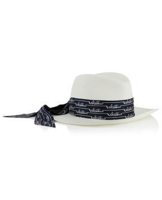 Chapeau de paille avec ruban en soie VALENTINO