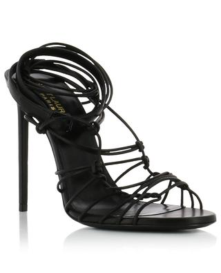 Robin 105 heeled nappa leather strappy sandals SAINT LAURENT PARIS