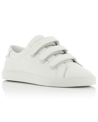 Weisse Ledersneakers mit Klettverschluss Andy SAINT LAURENT PARIS
