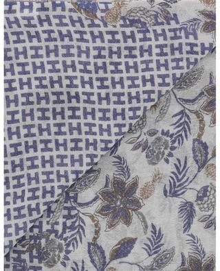 Tixsmall-WL floral wool and linen scarf HEMISPHERE