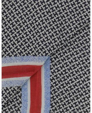 Tagbismall-WL monogrammed scarf with stripes HEMISPHERE