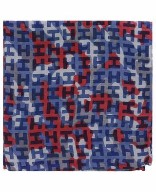 Ibenmini-S twill pocket square with camouflage print HEMISPHERE