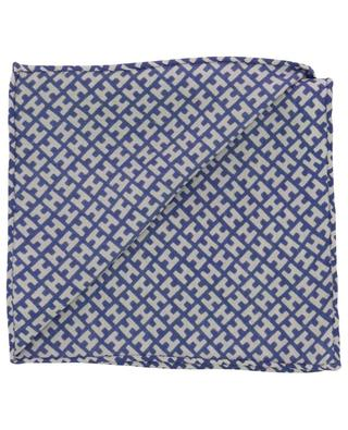 MiniH silk pocket square with print HEMISPHERE