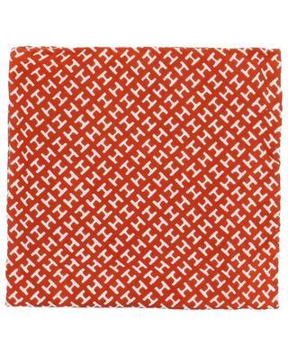 Pochette en soie imprimée MiniH HEMISPHERE