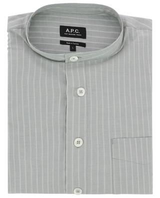 Alejandro striped cotton shirt with Mandarin collar A.P.C.