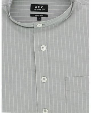 Chemise rayée en coton col Mao Alejandro A.P.C.