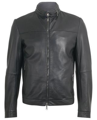 Reversible nappa leather and technical fabric jacket AD UNUM