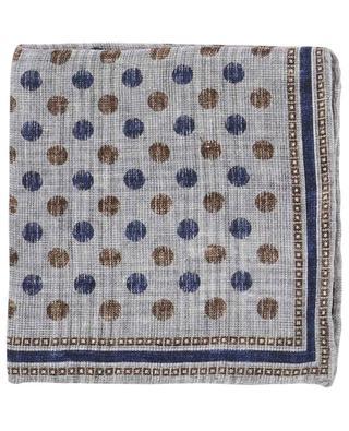 Pochette réversible en lin et coton imprimés Cat ROSI COLLECTION